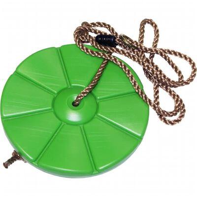 Kinder speeltoestel groene schommeldisk ronde schommel 28 cm -