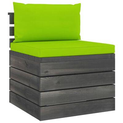 vidaXL Tuinbank 4-zits met kussens pallet massief grenenhout
