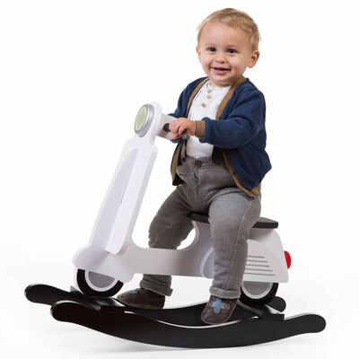 CHILDHOME Hobbelscooter wit en zwart