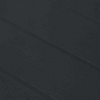 vidaXL Tuintafel 220x90x72 cm rattan-look kunststof antraciet