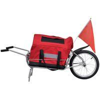 vidaXL Fietskar voor vracht met wiel en opbergzak