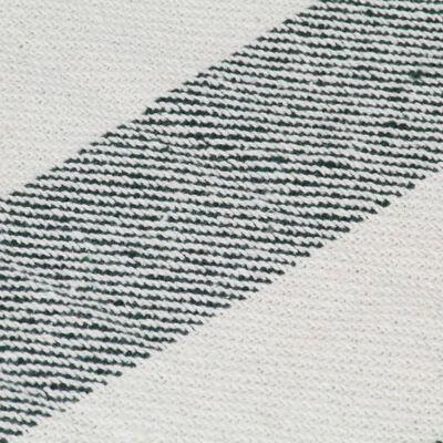 vidaXL Plaid streep 125x150 cm katoen donkergroen