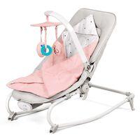 Kinderkraft Wieg/wipstoel 3-in-1 FELIO roze