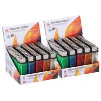 100x Aanstekers in verschillende kleuren 2 x 1 x 8 cm - Sigaretten