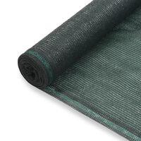 vidaXL Tennisscherm 1,2x50 m HDPE groen