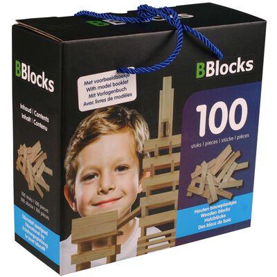BBlocks Bouwplankjes bruin hout 100 st BBLO890100
