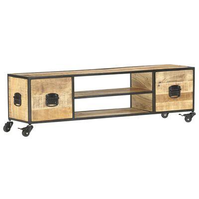 vidaXL Tv-meubel 130x30x39 cm massief mangohout