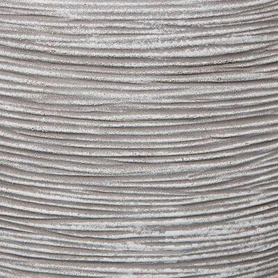 Capi Bloempot Nature Rib elegant laag 36x47 cm ivoorkleurig KOFI782