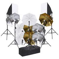 vidaXL Fotostudioset met verlichtingsset en softboxen