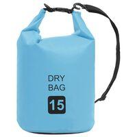 vidaXL Drybag 15 L PVC blauw