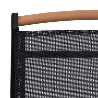 vidaXL Tuinstoelen inklapbaar 4 st aluminium en textileen zwart
