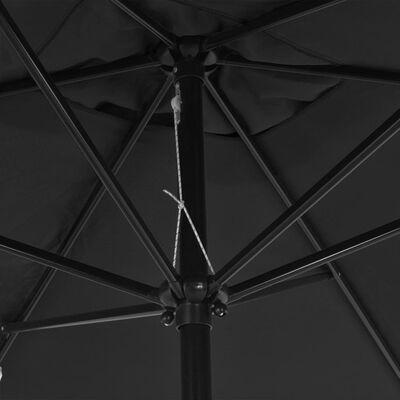 vidaXL Parasol met metalen paal 300x200 cm antraciet