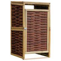 vidaXL Containerberging enkel grenenhout en wicker