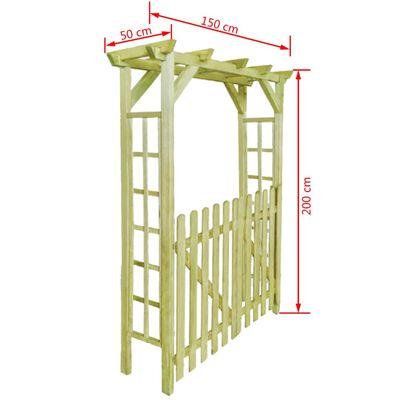 vidaXL Rozenboog 150x50x200 cm geïmpregneerd hout