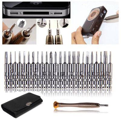 Mini schroevendraaier set 25-delige gereedschapsset voor pc, bril,