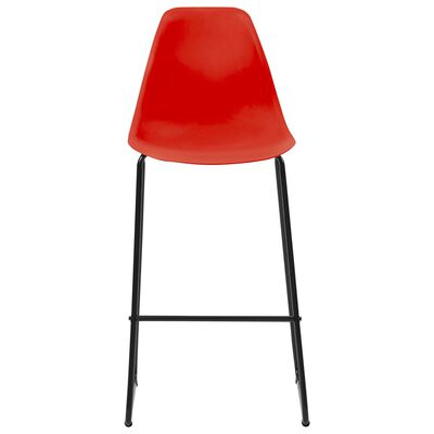vidaXL Barstoelen 4 st kunststof rood