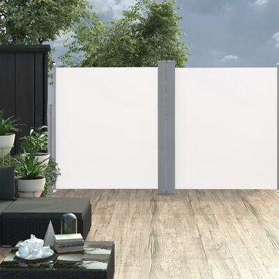 vidaXL Windscherm uittrekbaar 140x600 cm crème