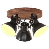 vidaXL Plafondlamp industrieel 25 W E27 42x27 cm gitzwart