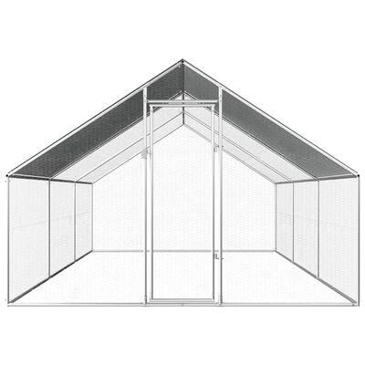 vidaXL Kippenhok 2,75x6x1,92 m gegalvaniseerd staal