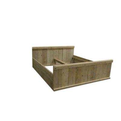 wood4you tweepersoonsbed jorg 180Bx220Lx90H - steigerhout