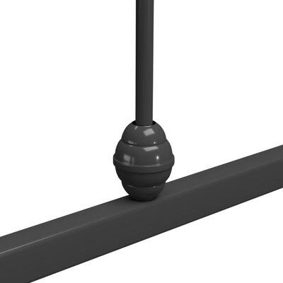 vidaXL Bedframe metaal grijs 120x200 cm