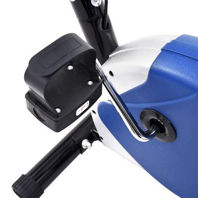 vidaXL Hometrainer met bandweerstand blauw