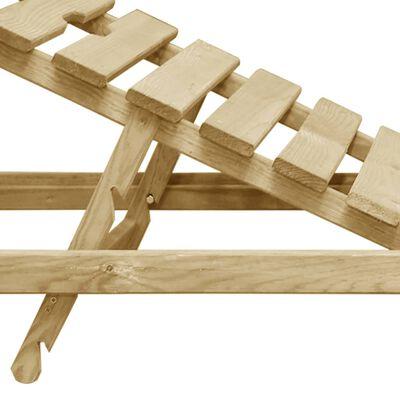 vidaXL Ligbed geïmpregneerd grenenhout
