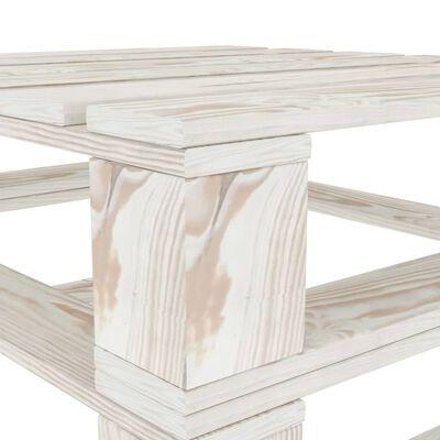 vidaXL Tuintafels 2 st pallet hout wit