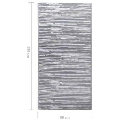 vidaXL Buitenkleed 80x150 cm PP grijs