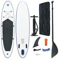 vidaXL Stand Up Paddleboardset opblaasbaar blauw en wit