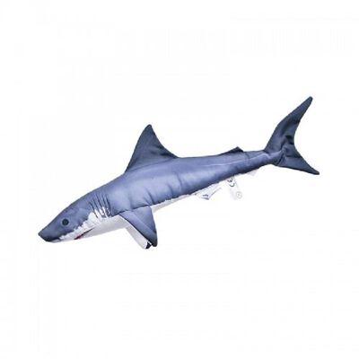Kussen Mini grote witte haai  53cm