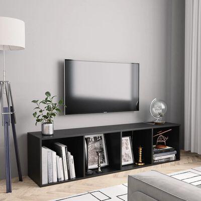 vidaXL Boekenkast/tv-meubel 143x30x36 cm zwart