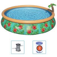 Bestway Zwembadset Fast Set Paradise Palms opblaasbaar 457x84 cm