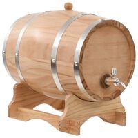 vidaXL Wijnvat met kraantje 12 L massief grenenhout