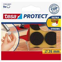 9x Tesa meubelvilt rond bruin 2,6 cm - Klusbenodigdheden -