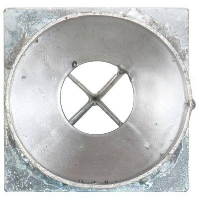 vidaXL Grondpinnen 2 st 8x61 cm gegalvaniseerd staal zilverkleurig