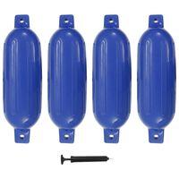 vidaXL Bootstootkussens 4 st 58,5x16,5 cm PVC blauw