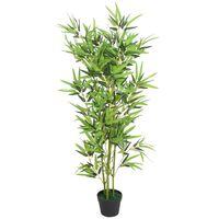 vidaXL Kunstplant met pot bamboe 120 cm groen