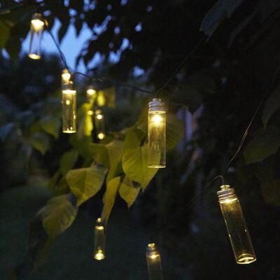 Luxform Tuinfeestverlichting solar LED 14 st Gordo transparant