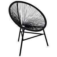 vidaXL Tuinmaanstoel poly rattan zwart