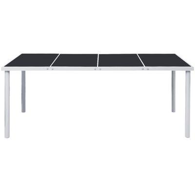 vidaXL Tuintafel 190x90x74 cm staal zwart