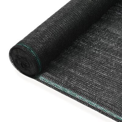 vidaXL Tennisscherm 1x25 m HDPE zwart