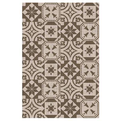 Esschert Design Buitenkleed Portugese tegels 182x122 cm