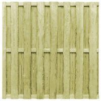 vidaXL Schuttingpaneel verspringend 180x180 cm grenenhout groen
