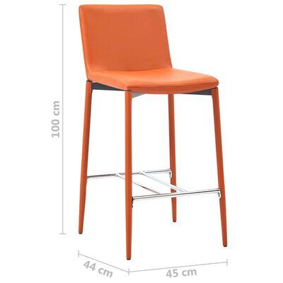 vidaXL Barkrukken 4 st kunstleer oranje