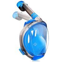 Snorkelmasker blauw - S / M