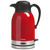 Bestron draadloze waterkoker thermo 1,5 L 1600 W rood/roestvrij staal ATW1600