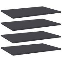 vidaXL Wandschappen 4 st 60x40x1,5 cm spaanplaat grijs