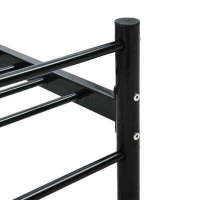 vidaXL Bedframe metaal zwart 90x200 cm