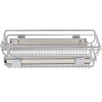 vidaXL Draadmanden uittrekbaar 2 st 300 mm zilverkleurig